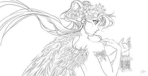 Moon Angel (in progress) by Pillara