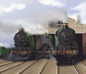 Great Western Glory by NE-Railway-Artist