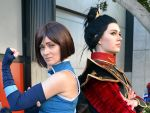 Korra and Azula Cosplay at 2018 Sydney Supanova by rbompro1