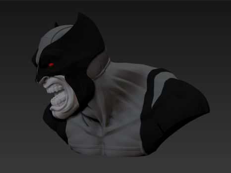 Wolvie black suit bust 3 by eliasrosario