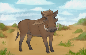 Jumble - Common Warthog by Biscottimon