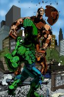 hulk vs juggernaut by Zetr0C