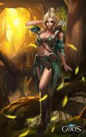 Ibria the Stealthy, Goddess of the Hunt by Jackiefelixart
