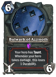 Hearthstone card concept - Bulwark of Azzinoth by SnowingGnat