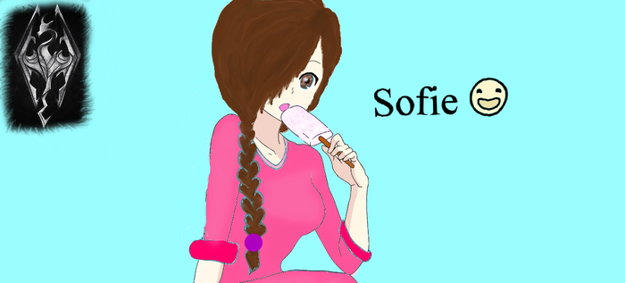 A Skyrim Tale: Sofie (RE-DRAW) by luv2sing57