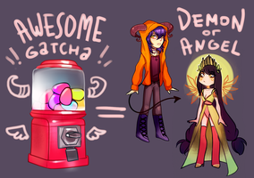 !GATCHA DEMONS AND ANGELS OPEN! by miotess-adopts