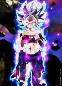 Commission 70 - Mastered Ultra Instinct Caulifla by salvamakoto