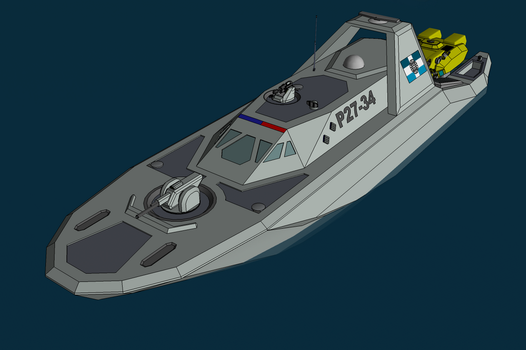 Patrolboat of the Trewhittian Commonwealth by NikitaTarsov