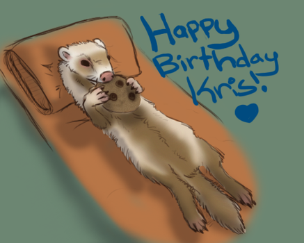 Ferret For Kris Bday by KichisCrafts
