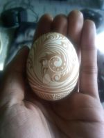 Hand Carved Chicken Egg by greborast