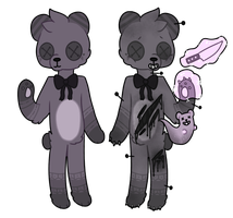 purple teddy bear adoptable // closed by overlord-adoptables