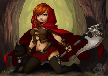 Not So Little Red Riding Hood by Blushy-Pixy