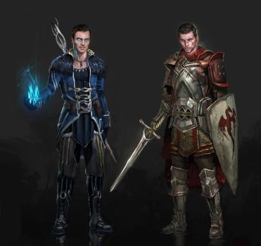 Dragon Effect Shep/Kaidan by AndrewRyanArt