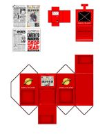 Newspaper Rack Red by MisterBill82