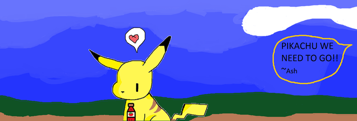 Pika and his katsup by pewdiepew12