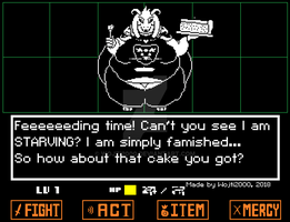 Asriel the Glutton - Sprite Edit by wojti2000