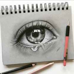 crying eye study by LeontinevanVliet