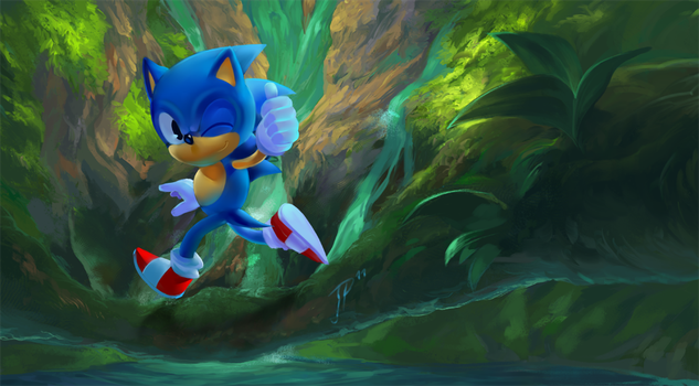 Classic Sonic by cat-meff
