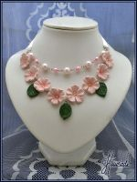 Blooming Sakura - necklace by Seatear