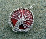 Wire Wrap Red Coral Pendant by Create-A-Pendant