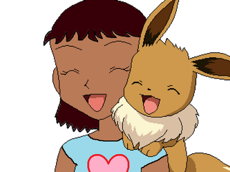 Me and My Eevee by WinterMoon95