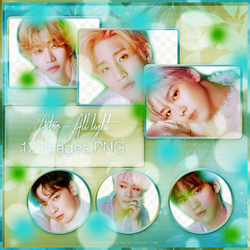 ASTRO - ALL LIGHT (PHOTOPACK PNG) by pandasensualon