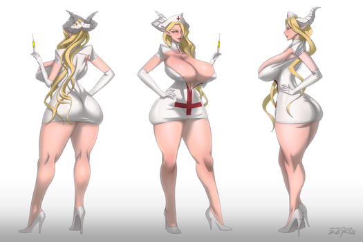 Nurse Honey - Character sheet by RaidouZERO