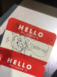 Ghostrings Hello Badge by Anii_mate by ghostrings