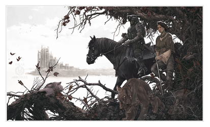 The Hound and the Wolf by AJFrena