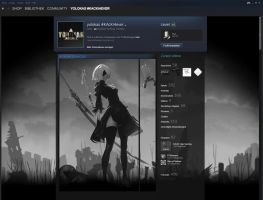 [Animated] 2B, Nier Automata SteamProfile by yolokas