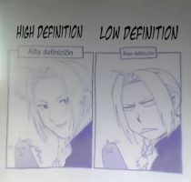 full metal alchemist in HD and LD by rockingdraw