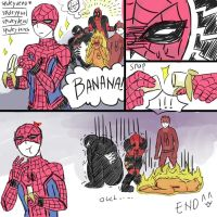 Spideyloves - banana by Nan034Syra