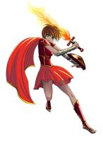 Pepper Fighting With Fire by HannahDoma