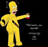 Homer in a Jark Suit by NajlaQamber