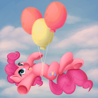 Pinkie balloon... thingy... by AC-whiteraven