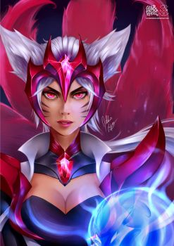 Challenger Ahri by goldhedgehog