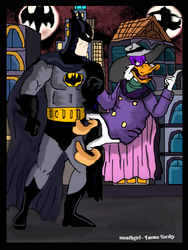 the batman v. darkwing by monthgirl