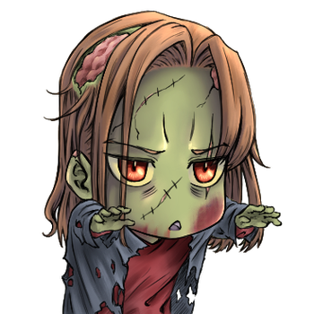 Commission: Chibi Zombie avatar by ARHDian