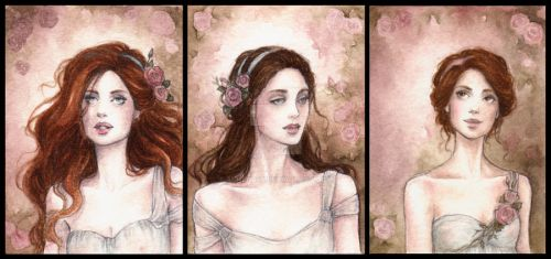 Rose Garden ACEO by Achen089
