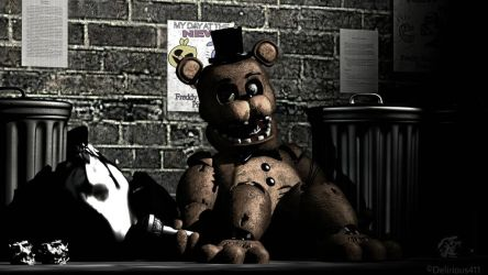 Withered Freddy in the Back Alley by Delirious411