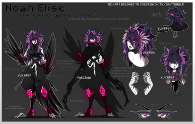 [OC] - NOAH ELISE REFERENCE SHEET by Yukirwa