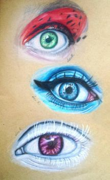 Cristina Otero's Eyes by LeoRenahy