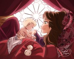 Mother's Day! Queen Aphrodite (Idun) And Baby Elsa by Lany19