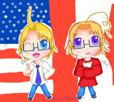 APH: Chibi America and Canada by Paopu-Blossom
