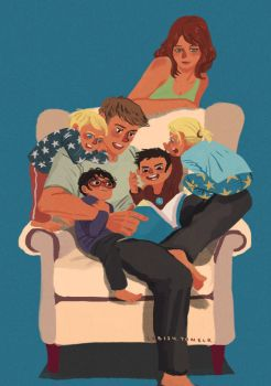 Crowded armchair by yenee96