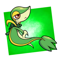 Snivy [Commission] by Astr0nautical