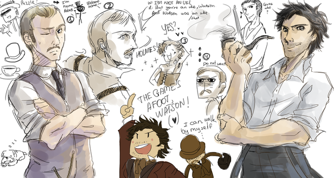 Sherlock Holmes doodle by that-nobody