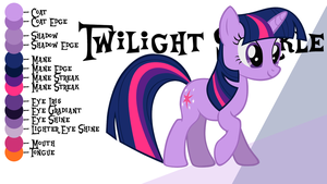Colour Guide - Twilight Sparkle by Liggliluff