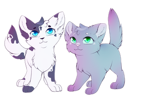 Violetkit And Twigkit by CrispyCh0colate
