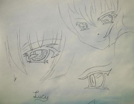new ATOC Lucy rough sketch :My Eyes: by SniperCopy